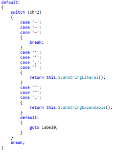 Code from the PowerShell tokenizer which treats unicode ticks/quotes the same as ASCII ticks/quotes.